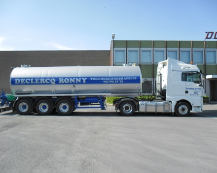 Stainless steel tanker for dung - Belgium